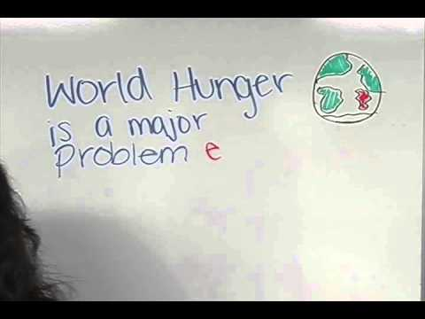 World Hunger - Stopmotion Wipeboard Project