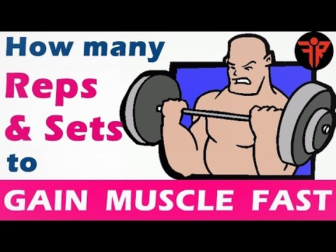 How to gain muscle fast | How many reps & sets to gain muscle | Hindi | Fitness Rockers