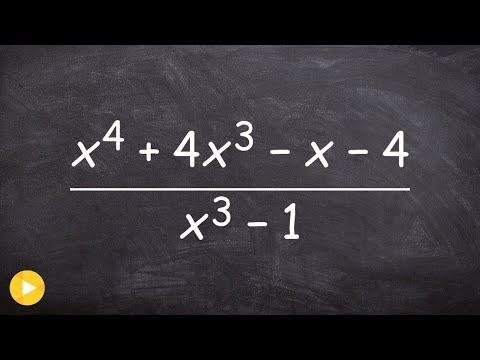 How to use long division for dividing two polynomials
