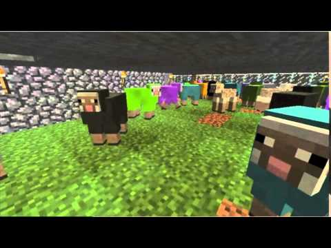 Minecraft Sheep Growing Wool Timelapse