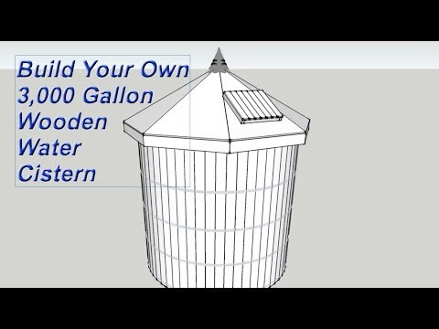 Build Your Own Wooden Water Tank