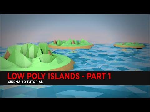 Low Poly Islands in Cinema 4D Part 1 : Tutorial