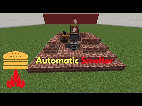 How to make an Automatic Smelter//Minecraft