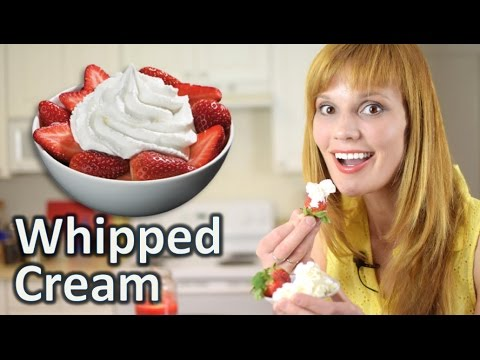 Whipped Cream Recipe - How to Make Homemade Whipped Cream Easy Recipe