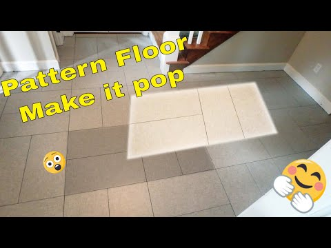 Large format double basket weave tile pattern Floor