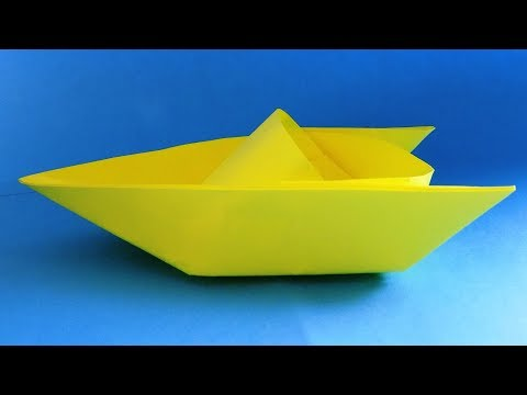 How to make a paper boat that floats | Origami boat