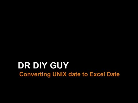 How to Convert Unix Date to Excel Date