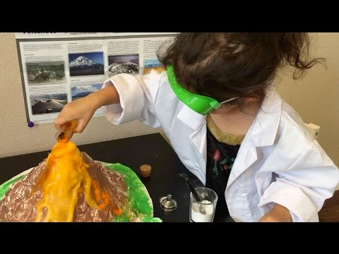 Baking Soda and Vinegar Volcano Eruption | Scientist in Training | Science for Kids