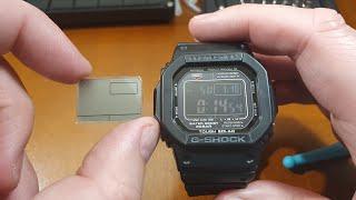 Casio G-Shock GW-M5610-1B - wymiana wyświetlacza na pozytywowy [PL]