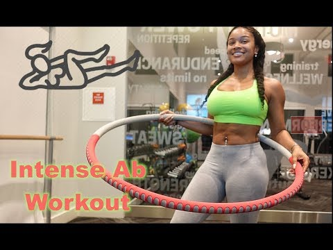 QUICK 15MIN AB WORKOUT | WEIGHTED HULA HOOP!
