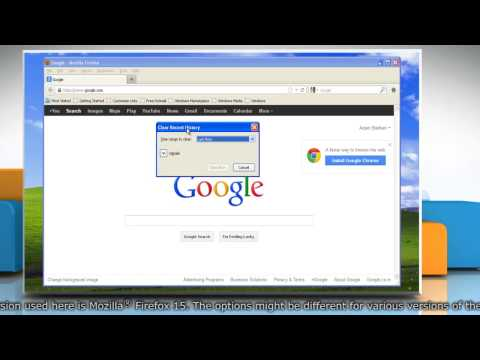 How to clear Mozilla® Firefox history in Windows® XP