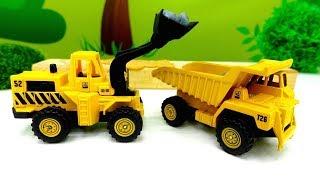 Helfer Autos auf Deutsch 🚜 Helper Cars auf der Baustelle 🚧 Video für Kinder mit #Spielzeugautos