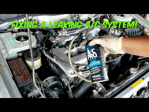 How To Fix A Leaking A/C Line On Your Car!   Infinti G20 Leaking AC Line Replacement!
