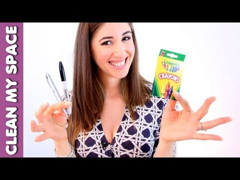 Cleaning Ink, Marker & Crayon Stains! Back to School Cleaning Tips 3/3 (Clean My Space)
