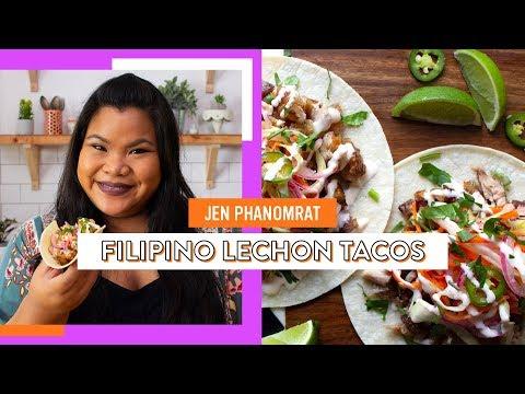 Filipino Lechon Tacos | Jen Phanomrat