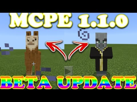 Mcpe 1.1.0 Beta//OUT NOW//Vex,Llama,Dyable Beds And More!!!
