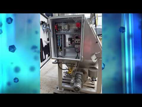 Stainless Bag Break Station w Dust Controlled Rotary Lump Breaker  - Bulk Processing
