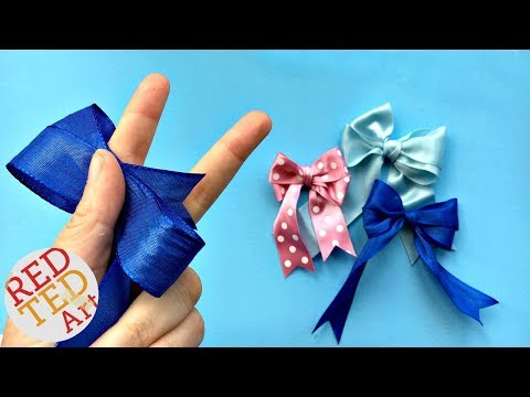 Double Bow Tutorial - Easy Hair Bow DIY - How to make a perfect bow - Craft Basics