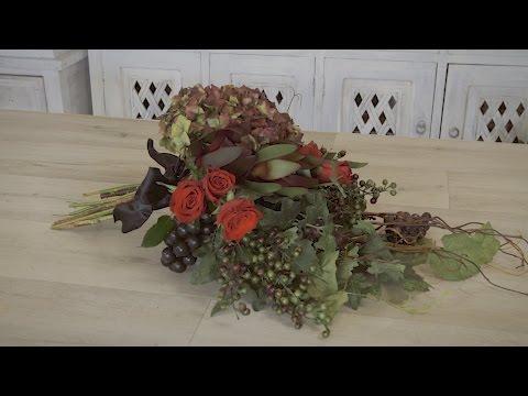 How to make an Autumn Flowers Wedding Bouquet