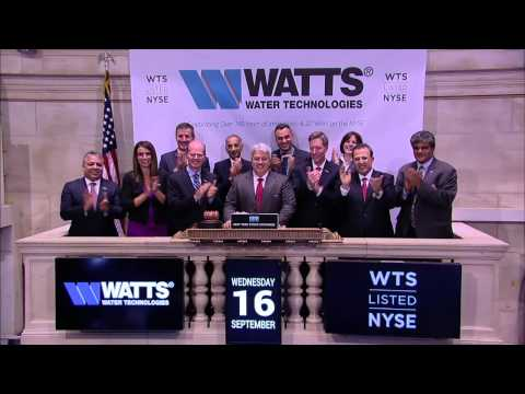 Watts Water Technologies Rings the Closing Bell