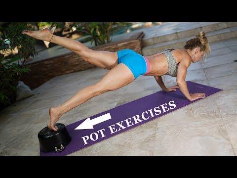 POT EXERCISES - 5 Minute Fat Burn #128