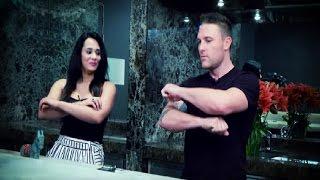 Brendon McCullum teaches Mayanti Langer the haka!