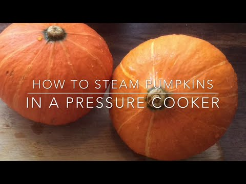 How to steam pumpkin in a pressure cooker