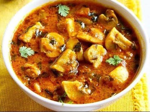 Mushroom Masala    Kadai Mushroom    Easy Indian Recipes    spicy Mushroom masala    Mushroom curry 
