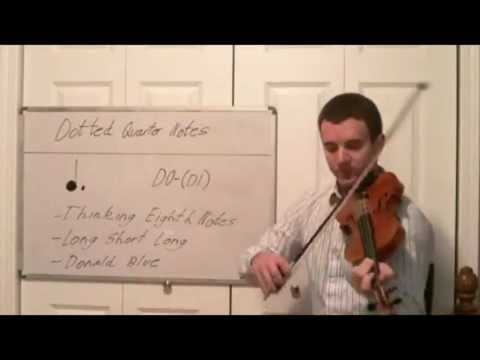 Learn Dotted Quarter Notes for the Violin - Intro to New Violin Rhythms