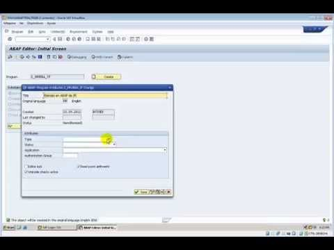 SAP   ABAP   Uso de el control de Flujo IF ELSE