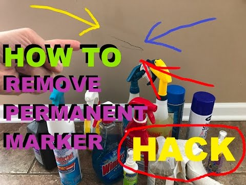 How To Remove Permanent Marker From The Wall