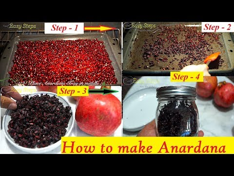 Make Anardana in 4 Hours in Oven | How to make Anardana Dry Pomegranate Seeds