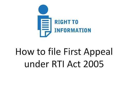 HOW TO WRITE RTI FIRST APPEAL| Right to Information Act, 2005 | LESSON 2