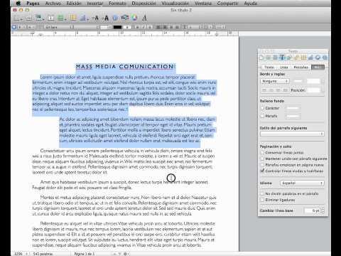 Cómo cambiar el idioma del corrector ortográfico del antiguo Pages 5.0 en Mac Os X