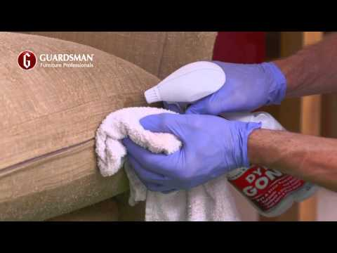 How we remove a red wine stain on a fabric sofa - Guardsman In-Home Care & Repair