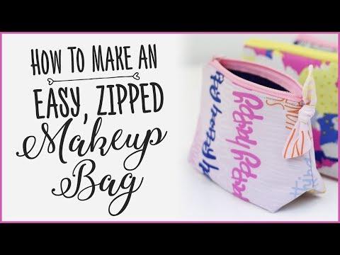 Makeup Bag Tutorial: How To Sew An Easy Zipper Bag