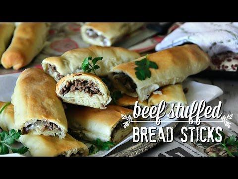 {How to make} BEEF STUFFED BREAD STICKS
