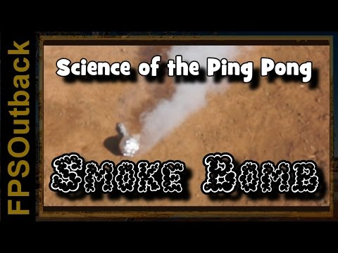 Science of the Ping Pong Ball Smoke Bomb - why ping pong balls burn
