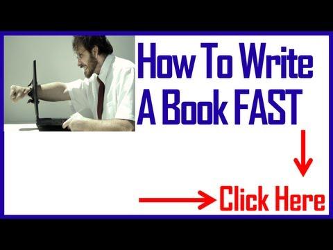 Help Me Write A Book FAST or