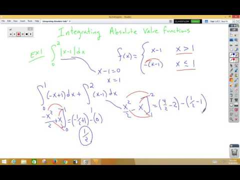 integrating absolute value functions