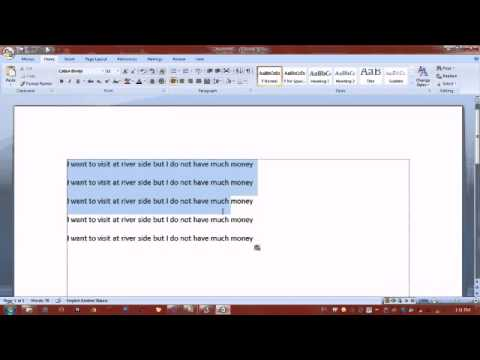 How to Change Case in Ms office word 2007(lesson 3)