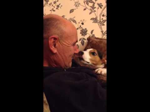 If the dog licks you lick it back!! Haha