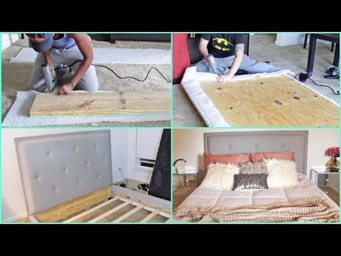 DIY | Building a Tufted Queen Size Bed From SCRATCH!!!!