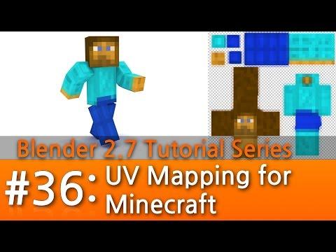 Blender 2.7 Tutorial #36 : UV Mapping for Minecraft #b3d
