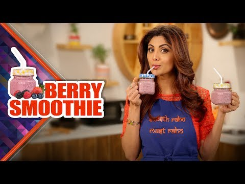 Strawberry Blueberry Smoothie | Shilpa Shetty Kundra | Healthy Recipes | The Art Of Loving Food