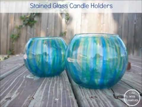 How to Make a Stained Glass Candle Holder