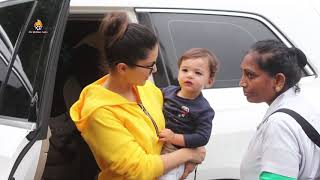 Sunny Leone with her kids snapped at play school juhu