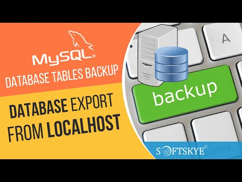 MySQL Database Tables Backup / Export From Localhost Video Tutorial