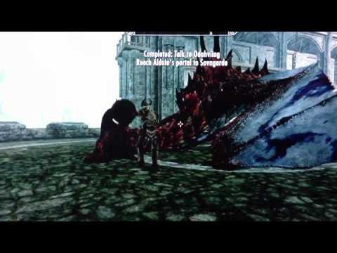 Skyrim riding a dragon (main quest) **SPOILER**