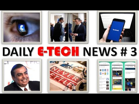 E Tech News #3 One Plus 6 Launch, Amazon New App, Facebook Data, Reliance Investment, Amazon Updates